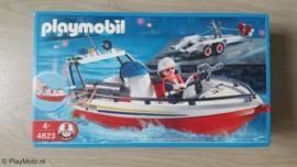 Playmobil 4823 - Brandweerboot met aanhanger MISB