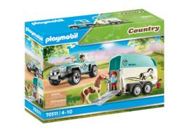 Playmobil 70511 - Auto met paardentrailer