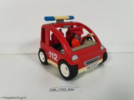 Playmobil 3177 - Brandweer Commandant met auto, 2ehands