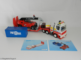 Playmobil 3935 Gigant Dieplader + 5256 Containerheftruck SET