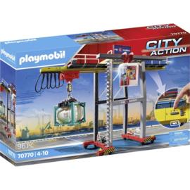 Playmobil 70770 - Portaalkraan met containers