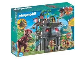 Playmobil 9429 - Basiskamp van de Explorers met T-Rex