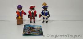 Playmobil 5040 - 3 Zwarte Pieten, gebruikt.
