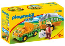 1.2.3. Playmobil 70182 - Dierenverzorger met neushoorn