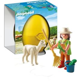 Playmobil 4944 - Alpaca met verzorgster in geel Paasei