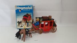 Playmobil 3245 - Western Red Stage Coach, gebruikt met doos