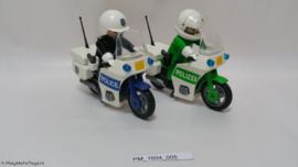 Playmobil 3983 + 3986 - Politiemotoren set, 2ehands.
