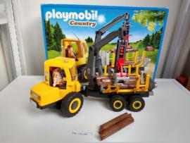 Playmobil 6813 - Houttransport met kraan, gebruikt in doos