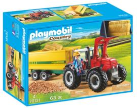 Playmobil 70131 - Grote tractor met aanhangwagen