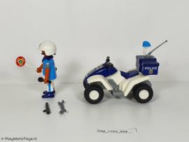 Playmobil 3655 - Politiequad met pullbackmotor, 2ehands.