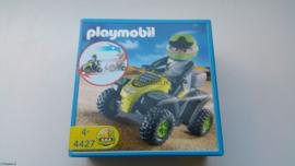 Playmobil 4427 - Zwarte Race quad met pullbackmotor