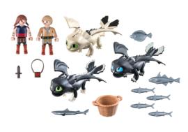 Playmobil 70457 - Dragons: Babydraken met kinderen