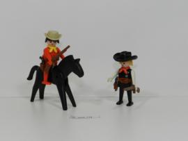 Playmobil 3581 - Sherrif met Cowboy te paard,  2ehands