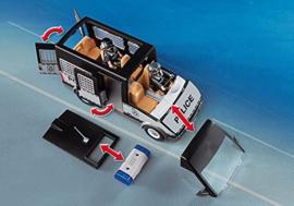 Playmobil 6043 - Politie Mobiele eenheid bus met zwaailichten & sirene