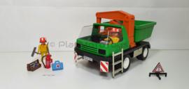 Playmobil 7655 - Kiepwagen met grijper, gebruikt