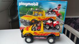 Playmobil 4228 - Pickup met quad, gebruikt met doos