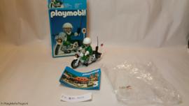 """Playmobil 3564x - Politiemotor """"Police"""", gebruikt met doos"""
