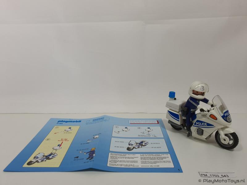 Playmobil 5185 - Politiemotor met zwaailicht, 2ehands