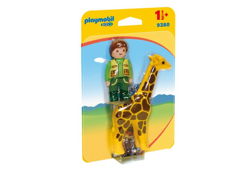 1.2.3. Playmobil 9380 - Dierenverzorgster met giraf