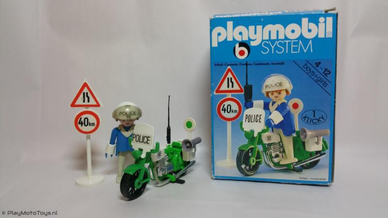 """Playmobil 3572 - Politiemotor """"Police"""", gebruikt"""