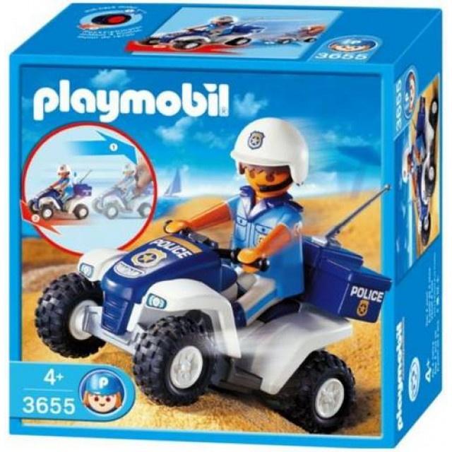 Playmobil 3655 - Politiequad met pullbackmotor