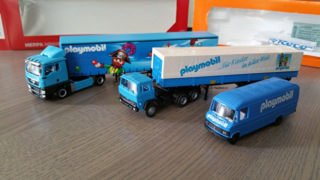 Playmobil Herpa trucks