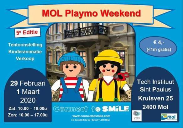Internationaal Playmobil Weekend Connect2Smile Mol België