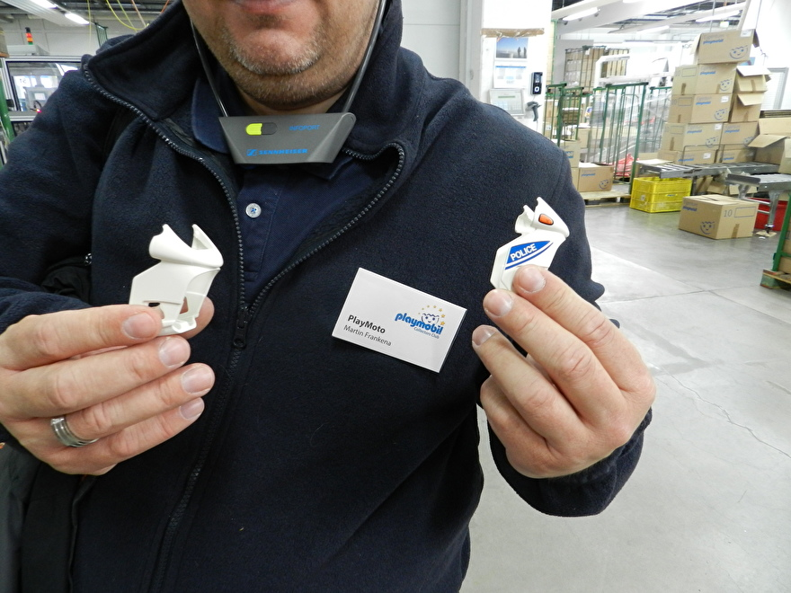 PlayMoto collectors items in PM fabriek te Dietenhofen