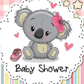 Full diamond painting koala baby shower 20 x 20 cm