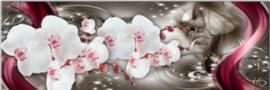 Full diamond painting Orchideeën 20 x 60 cm
