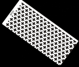 Diamond painting latje - heerser - 735 gaatjes - Vierkante steentjes