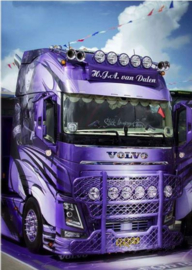 Full Diamond painting Volvo vrachtwagen 20 x 30 cm