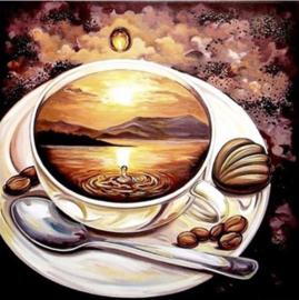Full Diamond Painting koffie 30 x 30 cm