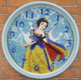 Diamond Painting Klok: Sneeuwwitje 30 x 30 cm
