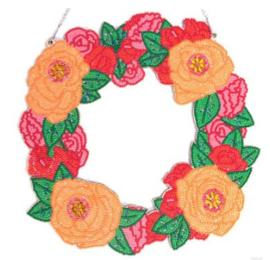 Kerstkrans roosjes