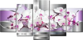 Full Diamond painting 5 luik, Orchideeën