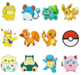 Sticker Diamond Painting Pokémon 12 stickers setje 2