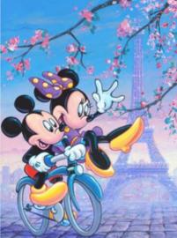 Full Diamond Painting Mickey Mouse eiffeltoren 40 x 60 cm