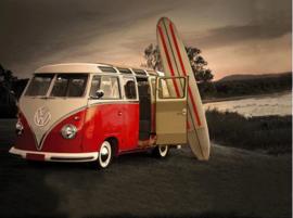 Full Diamond painting rood VW busje 30 x 40 cm