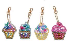 set sleutelhangers Cupcakes