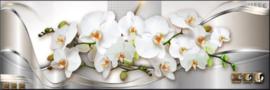 Full diamond painting relaxstenen, kaarsen, orchideeën 40 x 120 cm