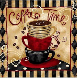 Full Diamond Painting Coffee Time 25 x 25 cm