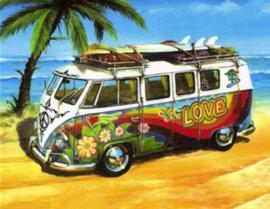 Full Diamond painting love VW busje 20 x 25 cm