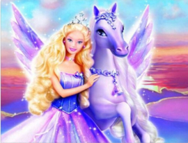 Full diamond painting Barbie & Pegasus 40 x 50 cm