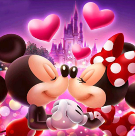 Full diamond painting Minnie & Mickey Mouse 30 x 30 cm