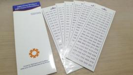 DMC labels met kleurnummers