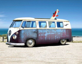 Full Diamond painting Lange blauwe VW wagen 30 x 40 cm