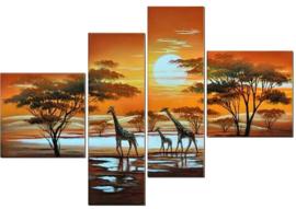 Full Diamond painting 4-luik  giraf