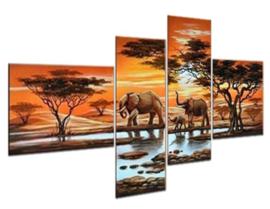 Full Diamond painting 4-luik  olifanten