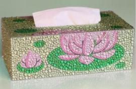 Diamond Painting zakdoekendoos met waterlelie